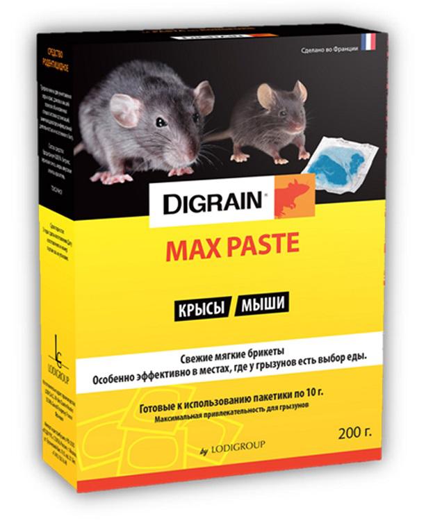 Средство родентицидное Digrain Max, от крыс и мышей, 200 г