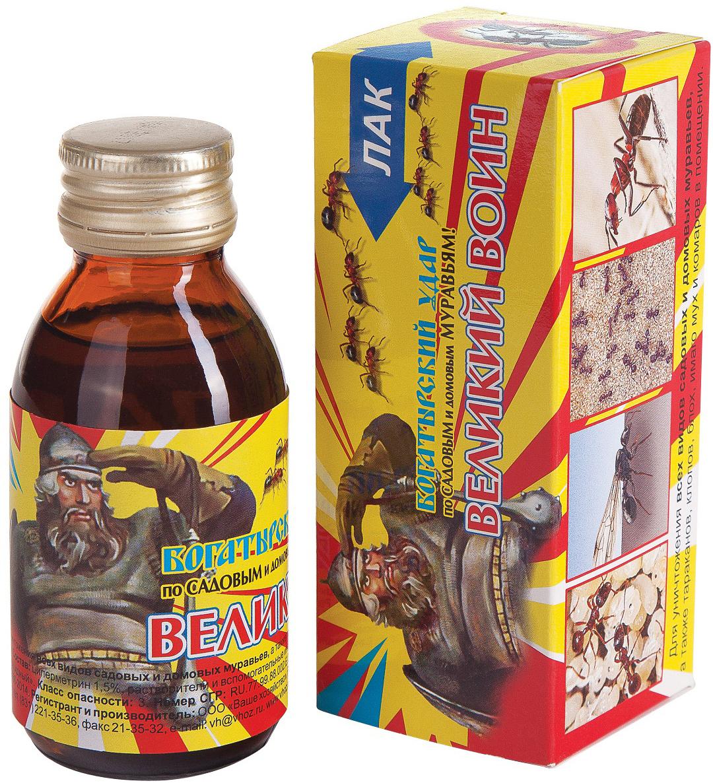 Лак от муравьев Ваше хозяйство Великий воин, 100 мл гель от тараканов и муравьев домовой 30г