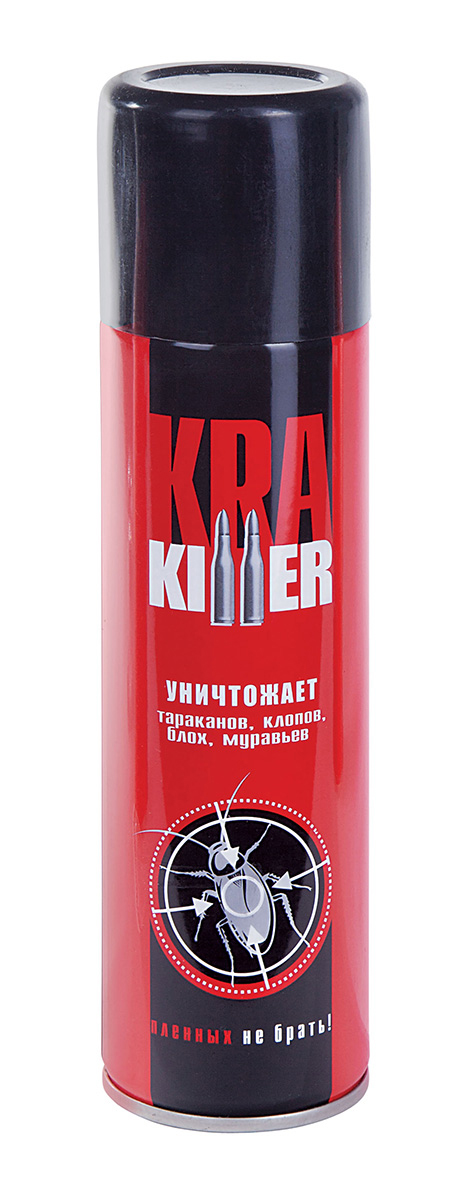 Аэрозоль от ползающих насекомых Ваше хозяйство Кра-киллер, 300 см куб спрей от клопов и блох чистый дом 400мл