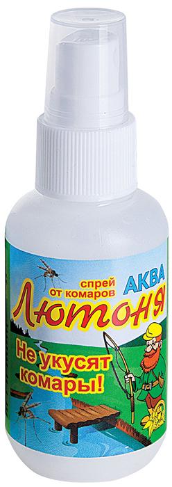 """Аква-спрей Ваше хозяйство """"Лютоня"""" средство репеллентное от комаров, а также мошки, москитов, слепней, мокрецов. Не содержит спиртов."""