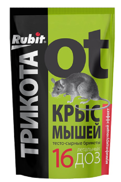 Приманка для вредителей Рубит ТриКота, 150 г приманка для вредителей родемос мыши вон сыр 100 г
