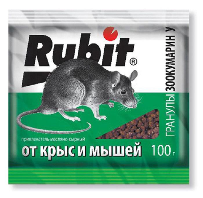 Гранулы от вредителей Рубит Зоокумарин+, сырный, 100 г