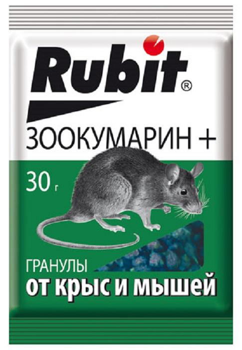 Гранулы от вредителей Рубит Зоокумарин+, 30 г