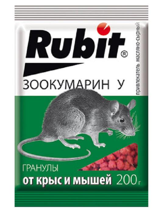 Гранулы от вредителей Рубит Зоокумарин+, сырный, 200 г