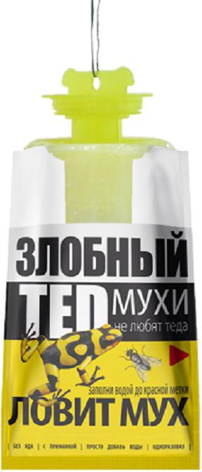 """Пакет-ловушка от мух """"Злобный ТЭД"""" - приманка нетоксична, поэтому не требует особых мер предосторожности при применении."""