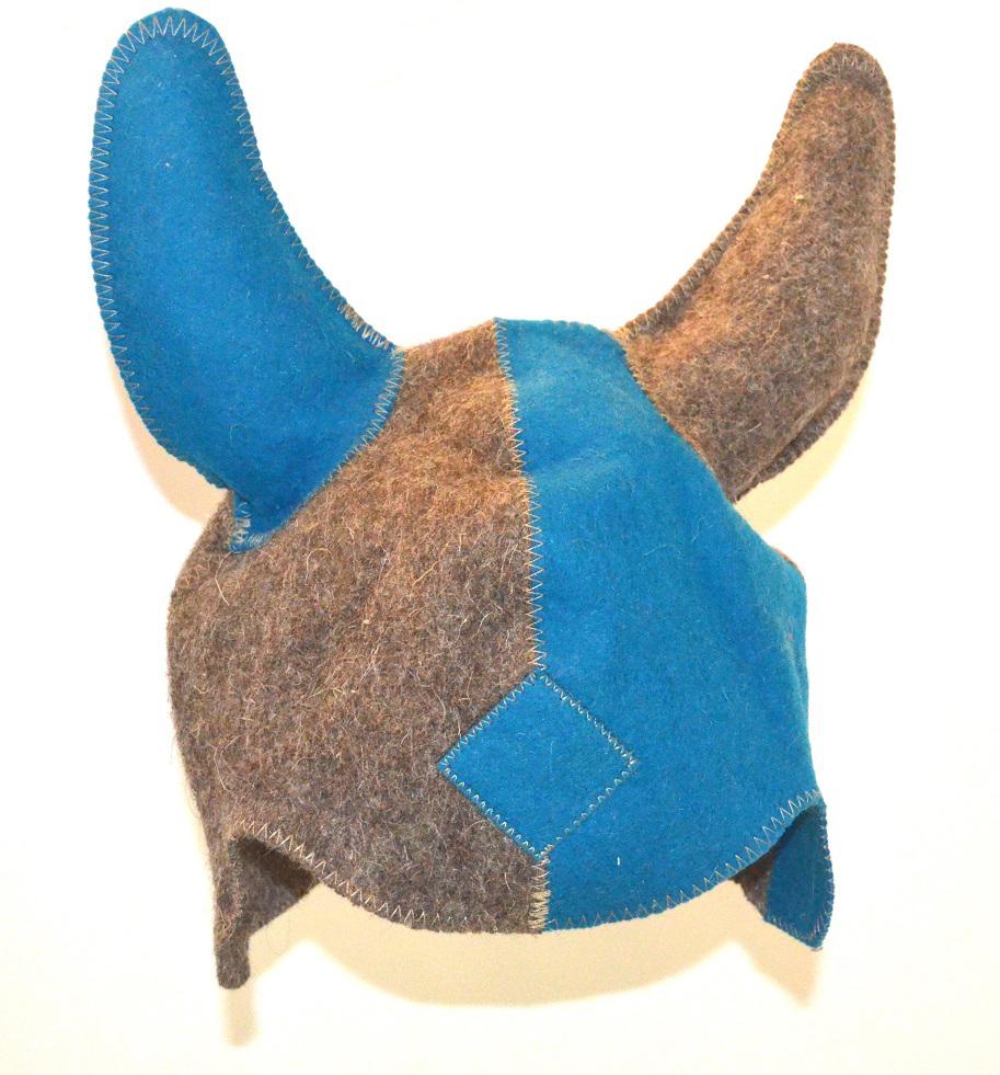 Колпак для сауны Ecology Sauna Викинг, цвет: синий, серыйдюн-0011Необходимый предмет в бане и сауне. Изготовлен из овечий шерсти. Защищает голову от перегрева и ожогов. Прекрасно впитывает влагу и пот. Сделает Ваше посещение парилки комфортным и безопасным. Колпак для сауны не только предохраняет от вредного воздействия, но и является модным аксессуаром. Может быть отличным подарком к празднику .