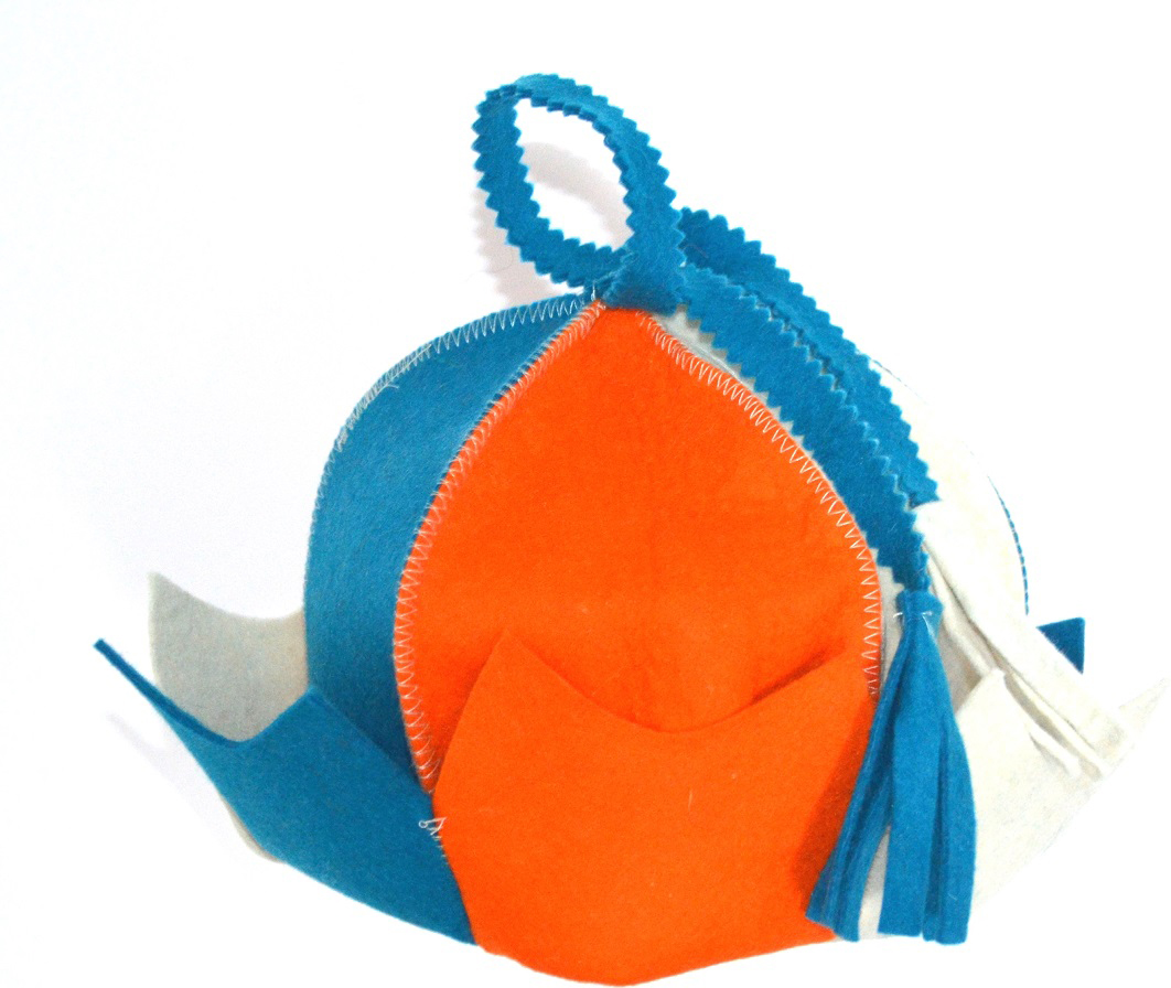 """Колпак для сауны Ecology Sauna """"Королевна"""", цвет: оранжевый, синий, белый"""