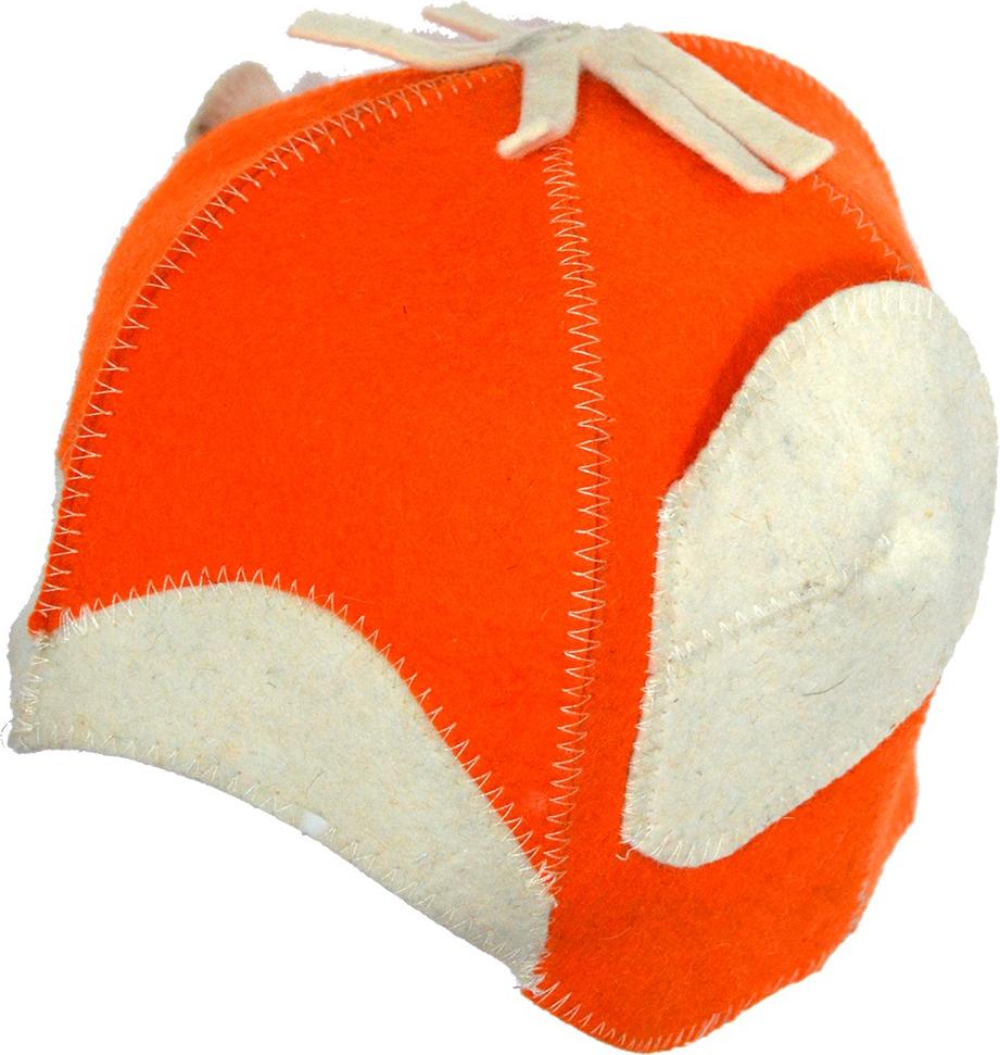 """Колпак для сауны Ecology Sauna """"Обезьянка"""", цвет: оранжевый, белый"""