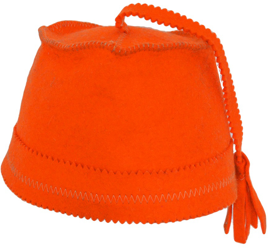"""Колпак для сауны Ecology Sauna """"Феска"""", цвет: оранжевый"""
