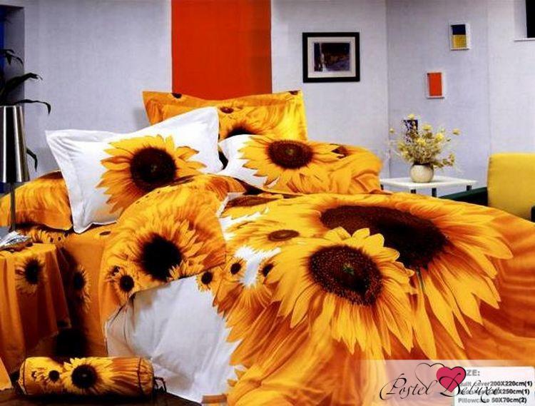 Комплект постельного белья Tango Java, 2-спальный, наволочки 50x70, цвет: желтый комплект постельного белья 2 спальный из сатина seta цвет голубой розовый