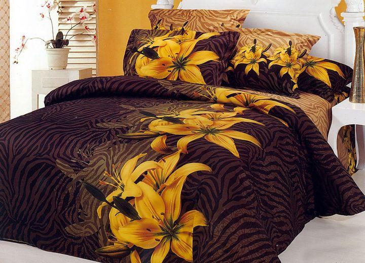 Комплект постельного белья Tango Paulina, 1,5-спальный, наволочки 70x70, цвет: желтый, коричневый