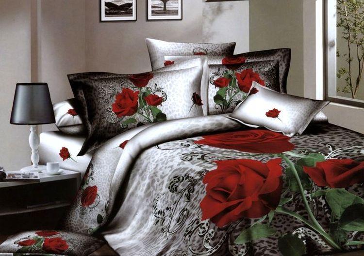 Комплект постельного белья Tango Celeste, 1,5-спальный, наволочки 70x70, цвет: красный, белый, серыйtan135801Сатин средней плотности – золотая середина среди сатинового постельного белья. Он достаточно плотный, долго не изнашивается, но стоит дешевле сатина повышенной плотности. Комплект из сатина не блестит как шелк, но приятен на ощупь и довольно мягкий. Краска на этой ткани держится очень хорошо: новое белье не полиняет и со временем не станет выцветать.