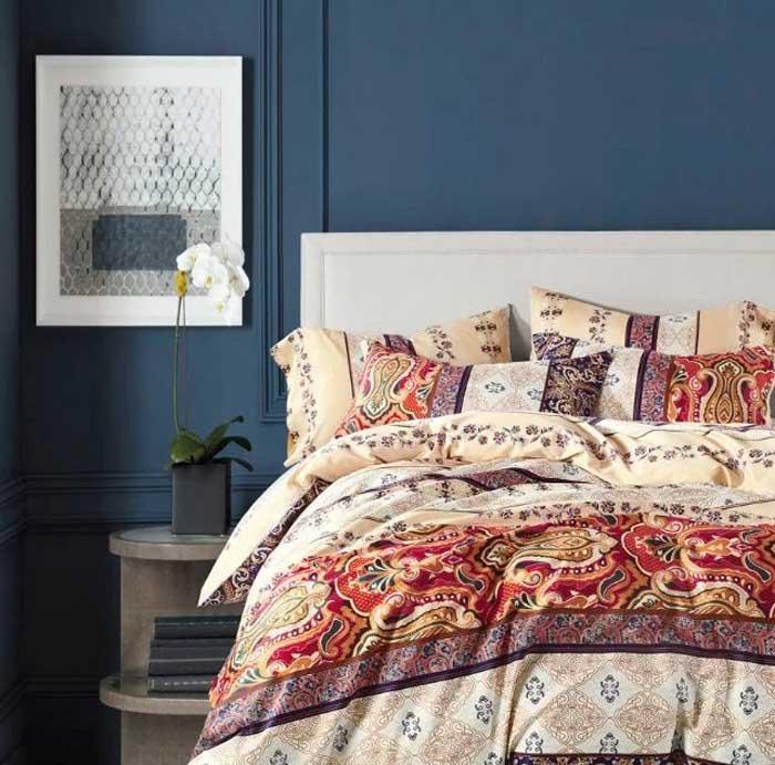 Комплект постельного белья Tango Wilbur, 2-спальный, наволочки 70x70, цвет: бордовый, желтый, красный