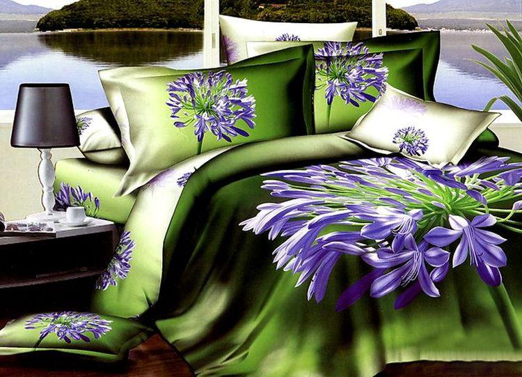 Комплект постельного белья Tango Aloysius, евро, наволочки 50x70, цвет: зеленый комплекты постельного белья tango постельное белье jacklyn 2 сп евро