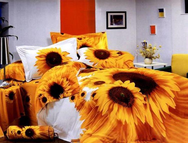 Комплект постельного белья Tango Mordecai, евро, наволочки 50x70, цвет: желтый, белый