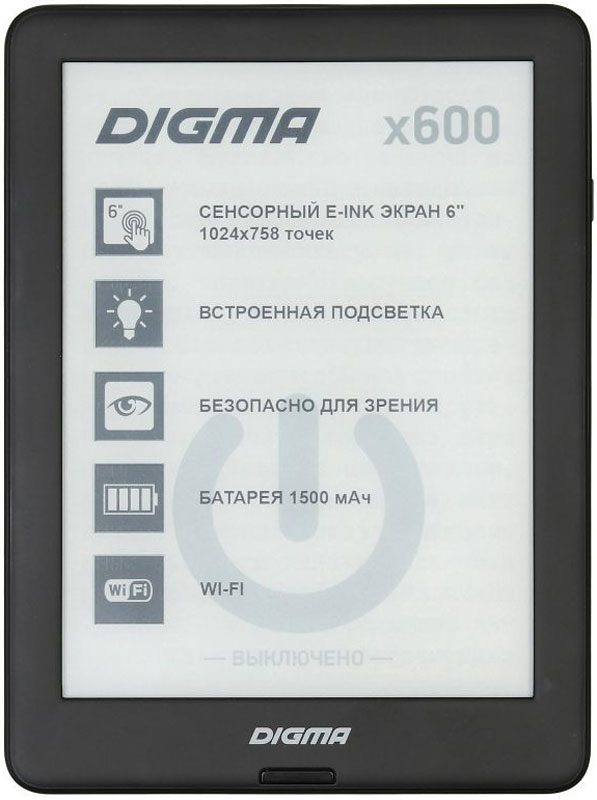 Digma X600, Black электронная книга new original e ink pearl hd display for digma e605 ebook erader e ink lcd screen glass panel e book replacement