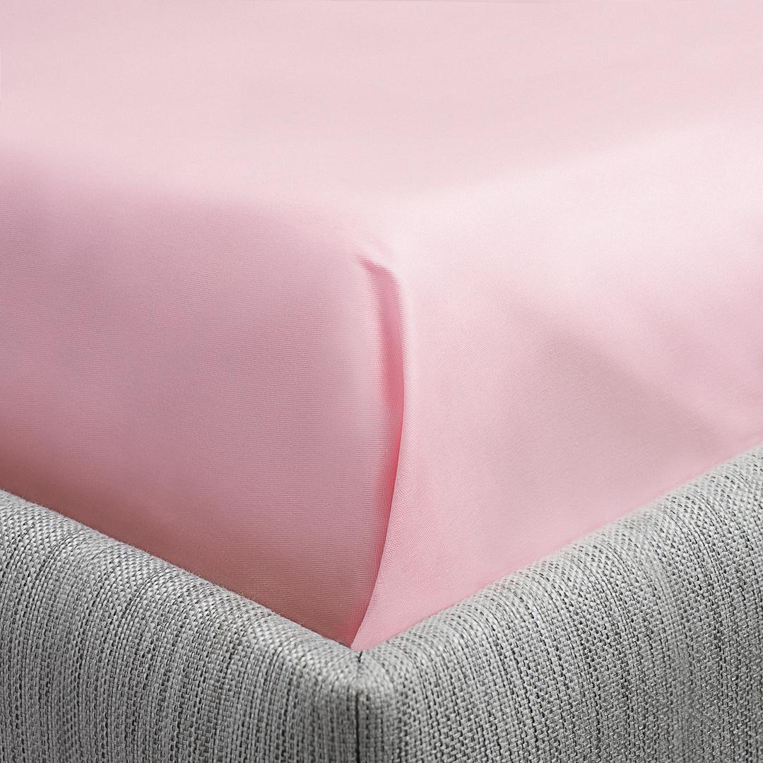 """Простыня на резинке """"Dome"""", сатиновая, цвет: розовый, 140 x 200 см"""