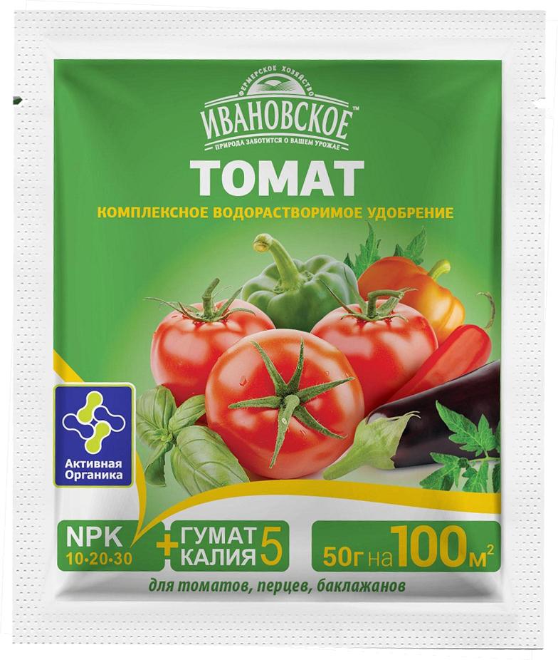 Удобрение Фермерское хозяйство Ивановское Томат, для томатов, перцев и баклажанов, 50 г