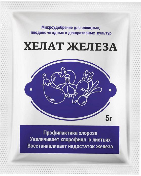 Водорастворимое удобрение, применяется для профилактики и лечения хлороза - дефицита железа у растений. Увеличивает хлорофилл в листьях. Восстанавливает недостаток железа.