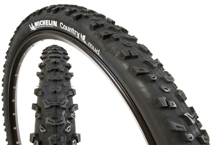 Покрышка Michelin Country MUD, 26 х 1,8 MTB клинчер, цвет: черный