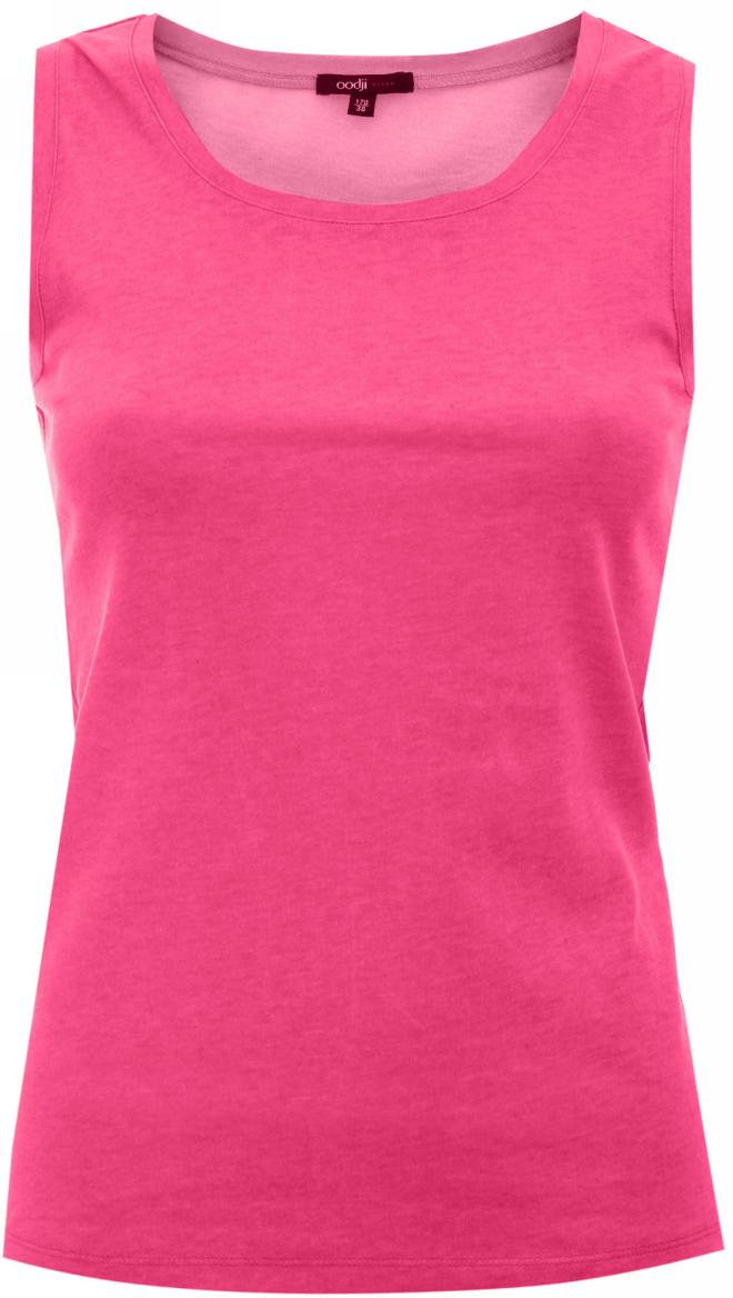 Купить Топ женский oodji Ultra, цвет: розовый. 11305148M/31515/4100N. Размер 36 (42-164)