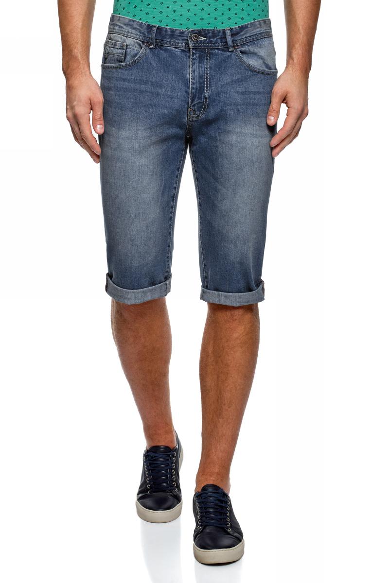 Шорты мужские oodji Lab, цвет: синий джинс. 6L220018M/45068/7500W. Размер 28 (44)6L220018M/45068/7500WШорты из денима с потертостями и отворотами. Длина примерно до середины колена. Модель застегивается на молнию и пуговицу. На поясе шлевки для ремня. По бокам карманы с отрезным бочком. Низ брючин с отворотами. Шорты со стандартной посадкой в талии отлично сидят и предоставляют свободу движений. Джинсовая ткань приятно ощущается на теле, пропускает воздух и отводит влагу. Модель будет элегантно смотреться на разных типах фигур. Джинсовые шорты с карманами станут практичным и универсальным предметом вашего гардероба. Они будут незаменимы для жаркой погоды. Их можно носить в любой неформальной обстановке. Шорты будут отлично смотреться с облегающей майкой или футболкой. Такой комплект красиво подчеркнет достоинства фигуры. Дополнением станет бейсболка и солнцезащитные очки. В таком наряде можно пойти на городскую прогулку, пикник или отправиться в туристическую поездку. Шорты будут гармонично сочетаться с рубашками с коротким рукавом. Для прогулки по морскому побережью их можно надеть с броской принтованной рубашкой и удобными шлепанцами. Завершит ваш привлекательный образ стильная шляпа и плетеные браслеты. Умело комбинируя шорты с потертостями с другой одеждой, вы всегда будете выглядеть оригинально.