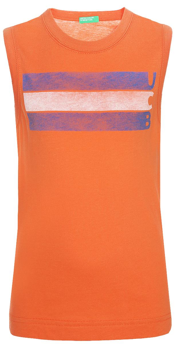 Футболка для мальчика United Colors of Benetton, цвет: оранжевый. 3I1XC8166_09N. Размер 160