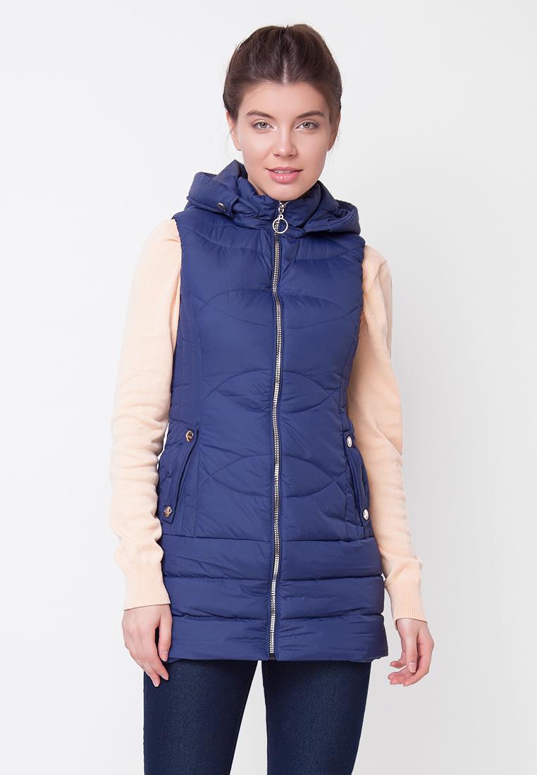 Купить Жилет женский Ampir Style, цвет: темно-синий. 18/123. Размер 46