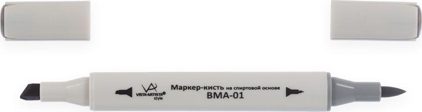 Vista-Artista Маркер-кисть Style цвет серый теплый S49348967010122Маркеры-кисть Style могут использоваться во многих художественных направлениях, таких как прорисовка дизайнов, создание иллюстраций, граффити и др. Палитра маркеров-кисть включает 168 цветов - от пастельных до самых ярких и также маркер-блендер. Маркер-блендер предназначен для создания визуальных эффектов - смешивания цветов, добавления акварельных эффектов, изменения насыщенности цвета в рисунке. Маркеры-кисть обладают следующими параметрами:На спиртовой основе.Водостойкий и не смывается водой.Два наконечника. Кисть используют для прорисовки деталей, закрашивания, смешивания цветов, толщина линии 1-2 мм. Толстый, скошенный наконечник используют для закрашивания больших поверхностей и прорисовки широких линий, толщина линии 1-7 мм.Цвета можно накладывать друг на друга и смешивать, получая при этом новые оттенки.Не высыхает при плотно закрытых колпачках.