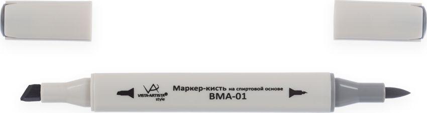 Vista-Artista Маркер-кисть Style цвет серый холодный S52248967012942Маркеры-кисть Style могут использоваться во многих художественных направлениях, таких как прорисовка дизайнов, создание иллюстраций, граффити и др. Палитра маркеров-кисть включает 168 цветов - от пастельных до самых ярких и также маркер-блендер. Маркер-блендер предназначен для создания визуальных эффектов - смешивания цветов, добавления акварельных эффектов, изменения насыщенности цвета в рисунке. Маркеры-кисть обладают следующими параметрами:На спиртовой основе.Водостойкий и не смывается водой.Два наконечника. Кисть используют для прорисовки деталей, закрашивания, смешивания цветов, толщина линии 1-2 мм. Толстый, скошенный наконечник используют для закрашивания больших поверхностей и прорисовки широких линий, толщина линии 1-7 мм.Цвета можно накладывать друг на друга и смешивать, получая при этом новые оттенки.Не высыхает при плотно закрытых колпачках.
