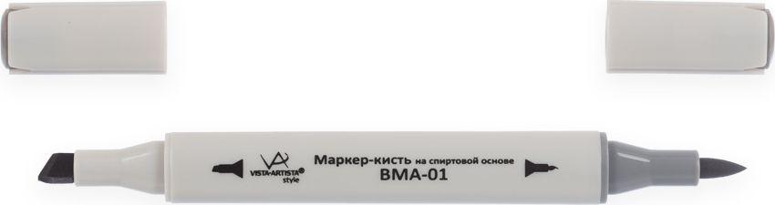 Vista-Artista Маркер-кисть Style цвет серый теплый S49248967016652Маркеры-кисть Style могут использоваться во многих художественных направлениях, таких как прорисовка дизайнов, создание иллюстраций, граффити и др. Палитра маркеров-кисть включает 168 цветов - от пастельных до самых ярких и также маркер-блендер. Маркер-блендер предназначен для создания визуальных эффектов - смешивания цветов, добавления акварельных эффектов, изменения насыщенности цвета в рисунке. Маркеры-кисть обладают следующими параметрами:На спиртовой основе.Водостойкий и не смывается водой.Два наконечника. Кисть используют для прорисовки деталей, закрашивания, смешивания цветов, толщина линии 1-2 мм. Толстый, скошенный наконечник используют для закрашивания больших поверхностей и прорисовки широких линий, толщина линии 1-7 мм.Цвета можно накладывать друг на друга и смешивать, получая при этом новые оттенки.Не высыхает при плотно закрытых колпачках.