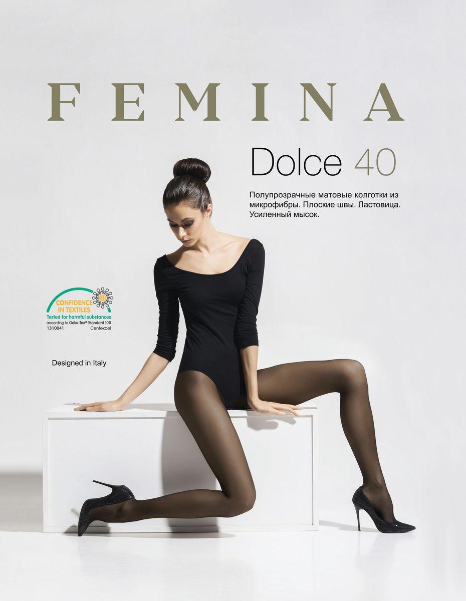 Колготки женские Femina Dolce 40, цвет: Daino (темно-телесный). Размер 5 колготки полупрозрачные jersey 30 ден