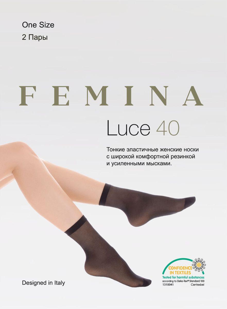 Носки женские Femina Luce 40, цвет: Nero (черный), 2 пары. Размер универсальный тонкие легинсы 2 пары quelle colors for life 763132
