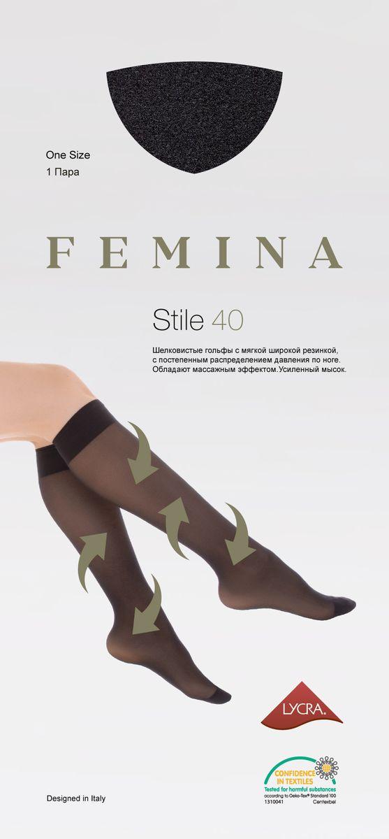 Гольфы женские Femina Stile 40, цвет: Nero (черный). Размер универсальный  - купить со скидкой
