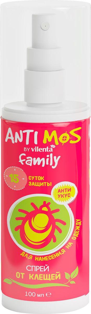 Спрей от клещей Anti Mos, 100 мл средство акарицидное защита от клещей super picnic 125 мл