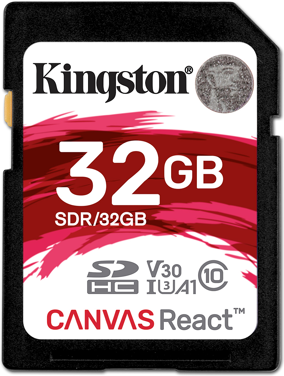 Zakazat.ru Kingston SDHC Canvas React UHS-I Class U3 32GB карта памяти