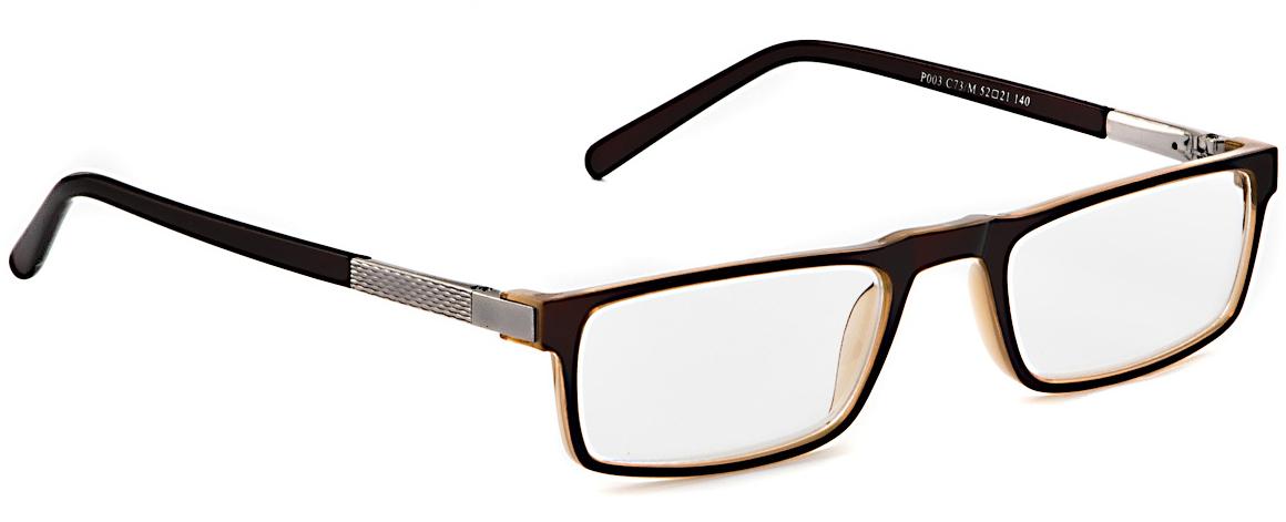 Lectio Risus Очки корригирующие (для чтения) + 2. P003 C73/MP003 C73MОчки для чтения Lectio Risus – это очки с плюсовыми диоптриями, рассчитанные на людей, которые плохо видят вблизи - страдают дальнозоркостью.Линзы очков для чтения изготовлены из высококачественного поликарбоната. Этот современный материал не уступает по своим качествам линзам из стекла, а по некоторым параметрам превосходит их.Основные преимущества данного вида линз:- Ударопрочность,- Долговечность,- Малый вес.Оправа очков для чтения Lectio Risus оснащена флексами. Флекс представляет собой пружинный механизм, которым дополняется шарнир крепления очков к оправе. Благодаря флексам крепление заушников становится более устойчивым к повреждениям. Очки с флексами дольше сохраняют свою форму, тогда как в обычных очках рано или поздно может появиться перекос дужек. Кроме того, очки с флексами более удобны в ношении, поскольку пружинный механизм делает посадку заушников более мягкой, не допуская сдавливания головы.