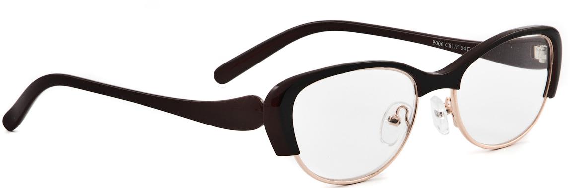 Lectio Risus Очки корригирующие (для чтения) + 2,5. P006 C81/FP006 C81FОчки для чтения Lectio Risus – это очки с плюсовыми диоптриями, рассчитанные на людей, которые плохо видят вблизи - страдают дальнозоркостью.Линзы очков для чтения изготовлены из высококачественного поликарбоната. Этот современный материал не уступает по своим качествам линзам из стекла, а по некоторым параметрам превосходит их.Основные преимущества данного вида линз:- Ударопрочность,- Долговечность,- Малый вес.Оправа очков для чтения Lectio Risus оснащена флексами. Флекс представляет собой пружинный механизм, которым дополняется шарнир крепления очков к оправе. Благодаря флексам крепление заушников становится более устойчивым к повреждениям. Очки с флексами дольше сохраняют свою форму, тогда как в обычных очках рано или поздно может появиться перекос дужек. Кроме того, очки с флексами более удобны в ношении, поскольку пружинный механизм делает посадку заушников более мягкой, не допуская сдавливания головы.