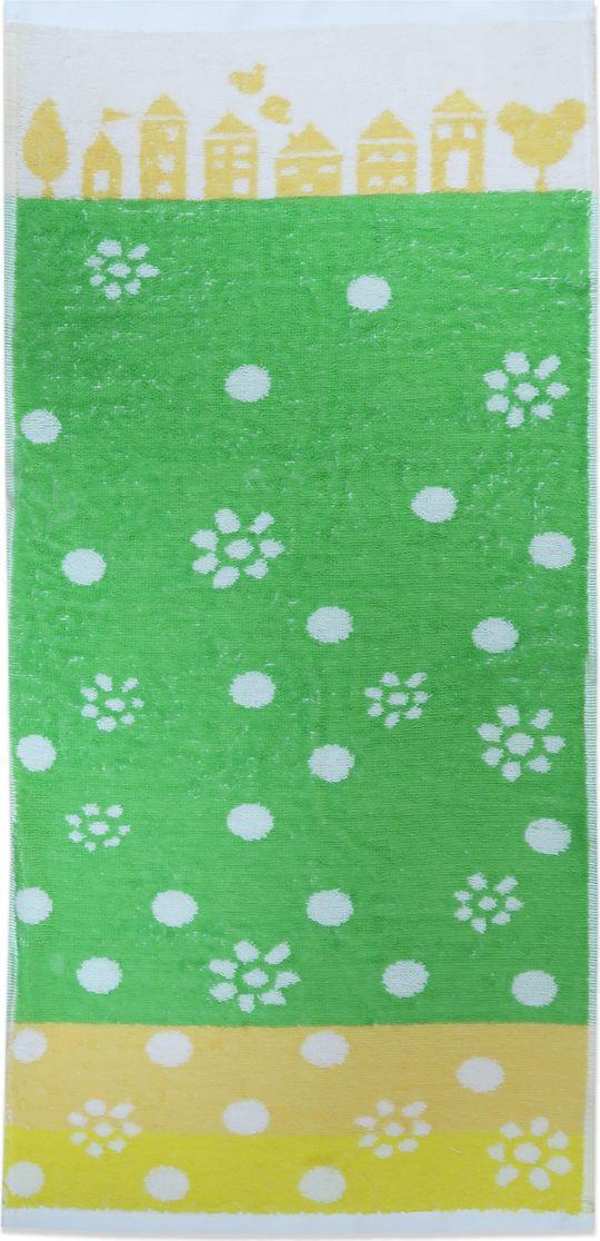 Bravo Полотенце детское Радость цвет зеленый 70 х 33 см