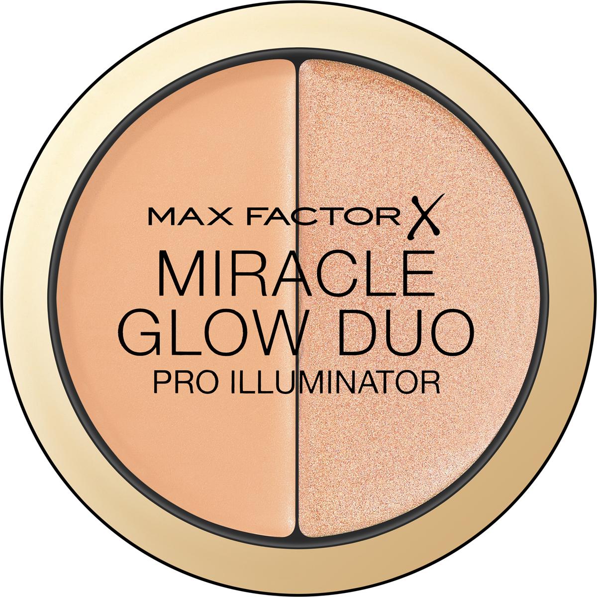 Max Factor Хайлайтер Miracle Glow Duo, тон №20 medium81646545Max Factor Glow Duo – это дуэт кремовых хайлайтеров (1 мягкий и 1 сияющий оттенок), которые можно использовать как вместе, так и по отдельности. Лёгкая формула легко растушёвывается и не требует особых навыков