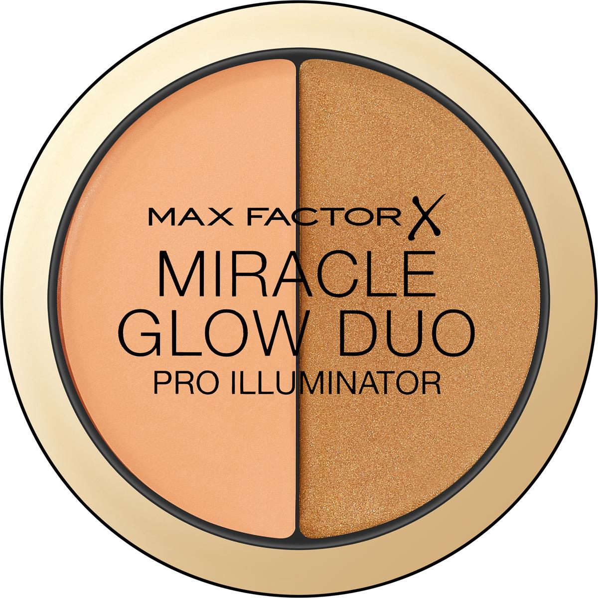 Max Factor Хайлайтер Miracle Glow Duo, тон №30 deep хайлайтер by terry glow expert duo stick 3 цвет 3 peachy petal variant hex name f89f97