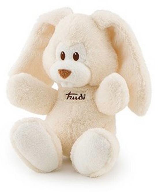 Trudi Мягкая игрушка Заяц Вирджилио цвет кремовый 26 см мягкие игрушки trudi мягкая игрушка trudi заяц вирджилио 9 см