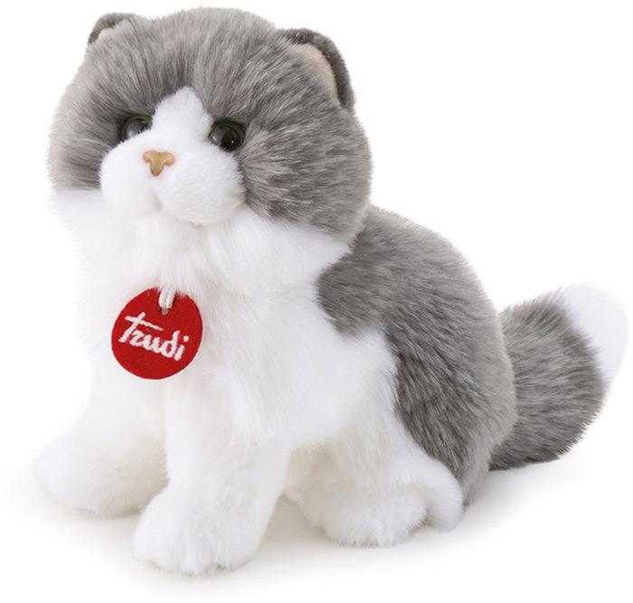 Trudi Мягкая игрушка Серо-белая кошка Клотильда сидячая 24 см мягкие игрушки trudi лайка маркус 34 см