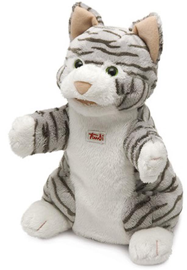 Trudi Мягкая игрушка на руку Кошка полосатая 25 см мягкие игрушки trudi лайка маркус 34 см