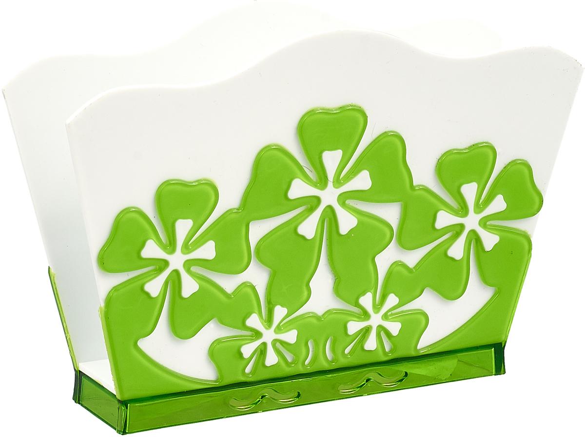Салфетница Альтернатива Камелия, цвет: белый, зеленый ваза камелия глянц