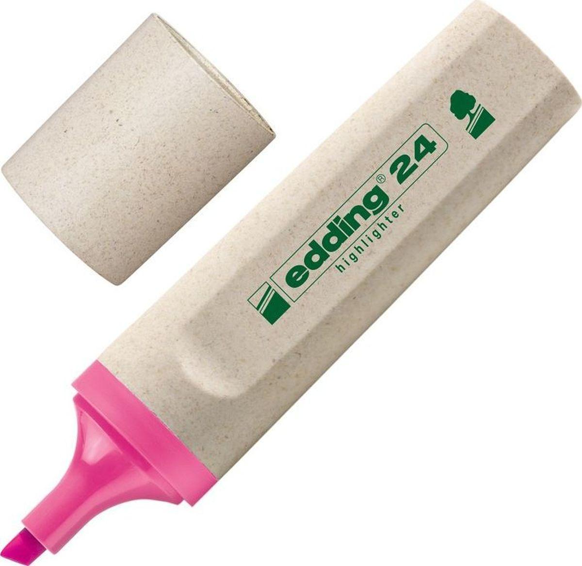Текстовыделитель Edding серии Эко, предназначенный для маркировки текста наразличных типах бумаги. Эргономичный корпус выполнен изпластика. Скошенный наконечник обеспечивает толщину линии от2до5мм. Флуоресцентные чернила розового цвета наводной основе нетоксичны, несодержат вредных веществ, устойчивы квоздействию света. Изделие на97% изготовлено изпереработанного сырья без вреда для окружающей среды.
