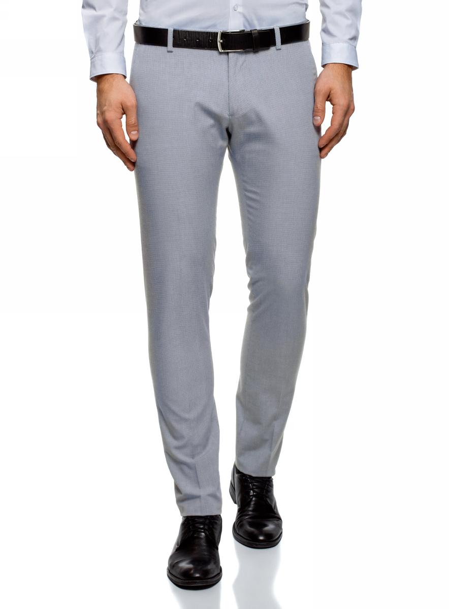 Брюки мужские oodji Lab, цвет: серый. 2L210224M/48093N/7910C. Размер 48 (56-182)