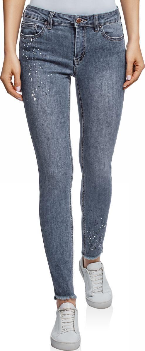 Джинсы женские oodji Ultra, цвет: синий джинс. 12104076/47546/7500W. Размер 25-32 (40-32) джинсы женские oodji ultra цвет темно синий джинс 12103145b 46341 7900w размер 26 32 42 32