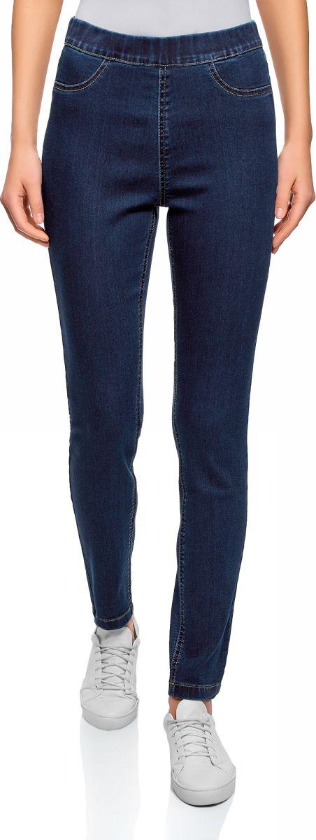 Леггинсы женские oodji Ultra, цвет: темно-синий джинс. 12104043-6B/47828/7900W. Размер 27-32 (44-32)