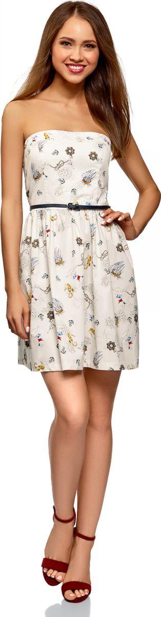 Платье oodji Ultra, цвет: кремовый. 11902101-6B/14885/3074O. Размер 44 (50-170) oodji 11902101 4 14912 1245e